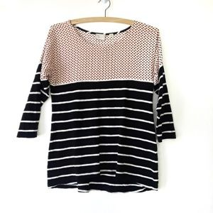 Postmark Anthropologie Striped Polka Dot Blouse